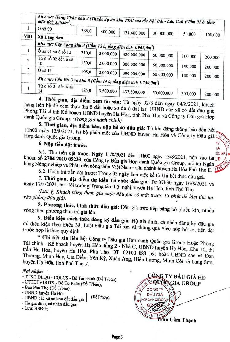 Ngày 16/8/2021, đấu giá quyền sử dụng đất tại huyện Hạ Hòa, tỉnh Phú Thọ ảnh 4