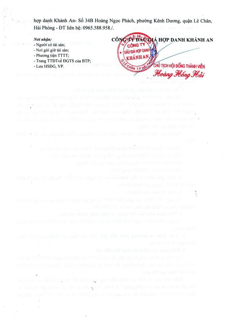Ngày 4/8/2021, đấu giá xe ô tô TOYOTA tại thành phố Hải Phòng ảnh 4