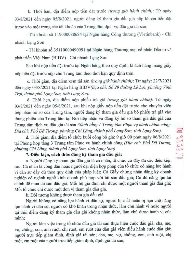 Ngày 6/8/2021, đấu giá 2 thang máy chở người tại tỉnh Lạng Sơn ảnh 3