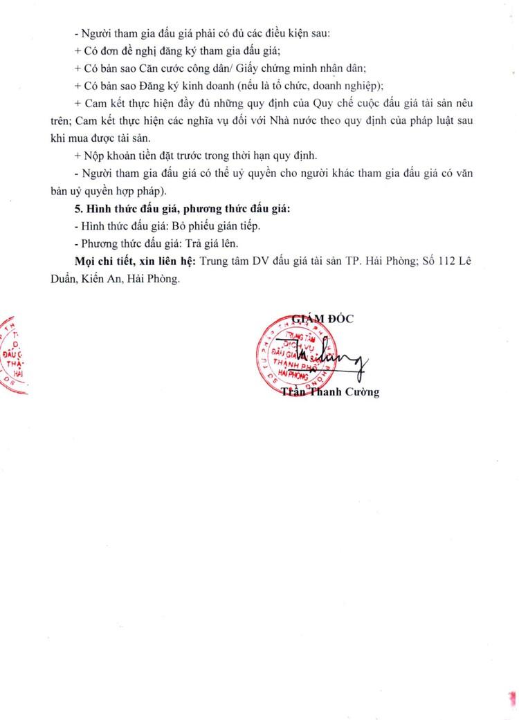 Ngày 6/8/2021, đấu giá 17 lô tài sản tại thành phố Hải Phòng ảnh 3