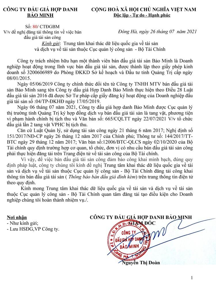 Ngày 2/8/2021, đấu giá dụng cụ khuếch tán tinh dầu tại tỉnh Quảng Trị ảnh 2