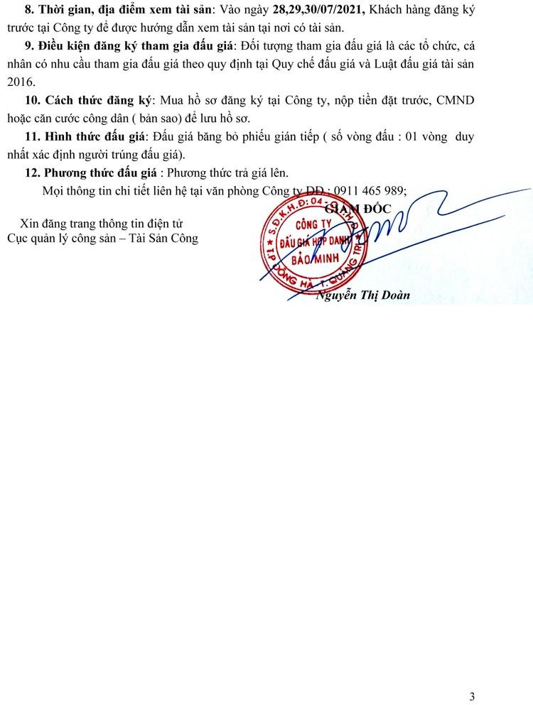 Ngày 2/8/2021, đấu giá dụng cụ khuếch tán tinh dầu tại tỉnh Quảng Trị ảnh 4