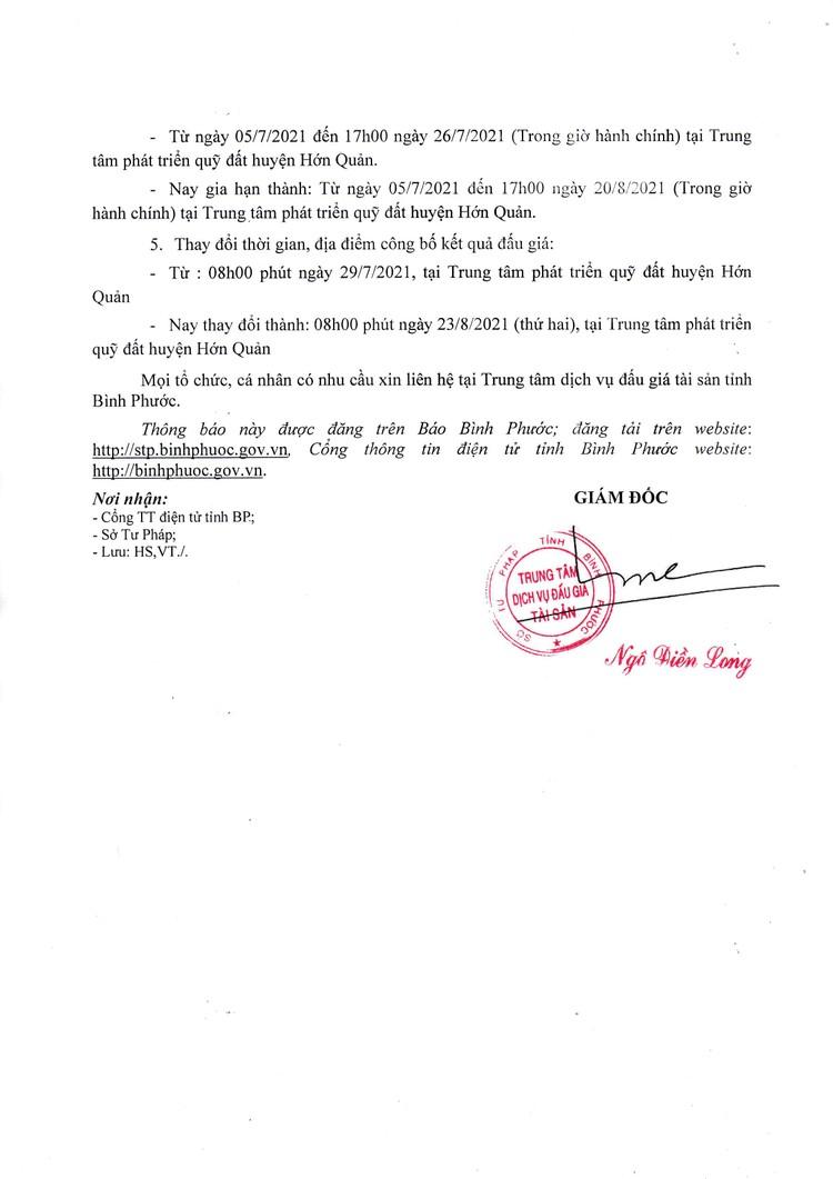 Ngày 23/8/2021, đấu giá quyền sử dụng 23 lô đất tại huyện Hớn Quản, tỉnh Bình Phước ảnh 3