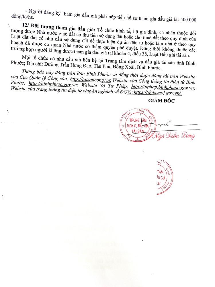 Ngày 23/8/2021, đấu giá quyền sử dụng 23 lô đất tại huyện Hớn Quản, tỉnh Bình Phước ảnh 6