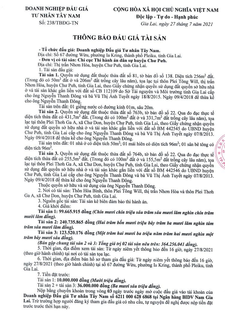 Ngày 1/9/2021, đấu giá quyền sử dụng đất tại huyện Chư Pưh, tỉnh Gia Lai ảnh 2