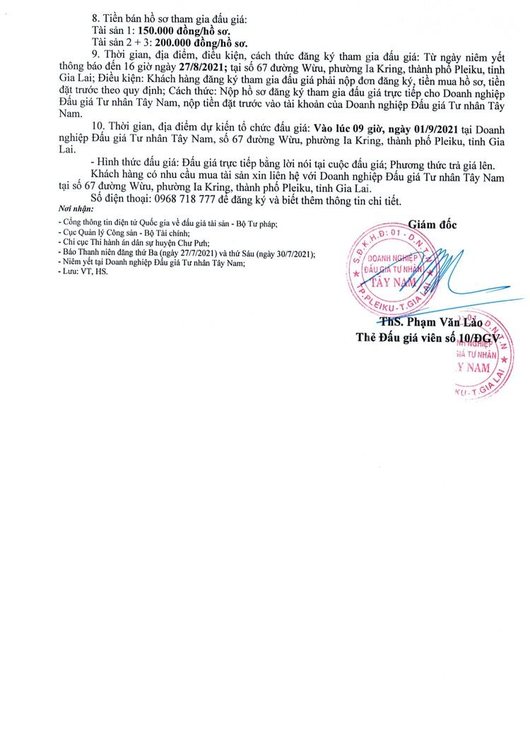 Ngày 1/9/2021, đấu giá quyền sử dụng đất tại huyện Chư Pưh, tỉnh Gia Lai ảnh 3