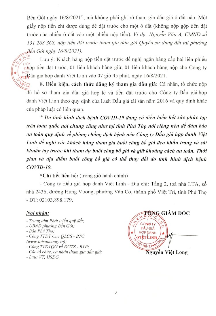 Ngày 16/8/2021, đấu giá quyền sử dụng 18 ô đất tại thành phố Việt Trì, tỉnh Phú Thọ ảnh 4