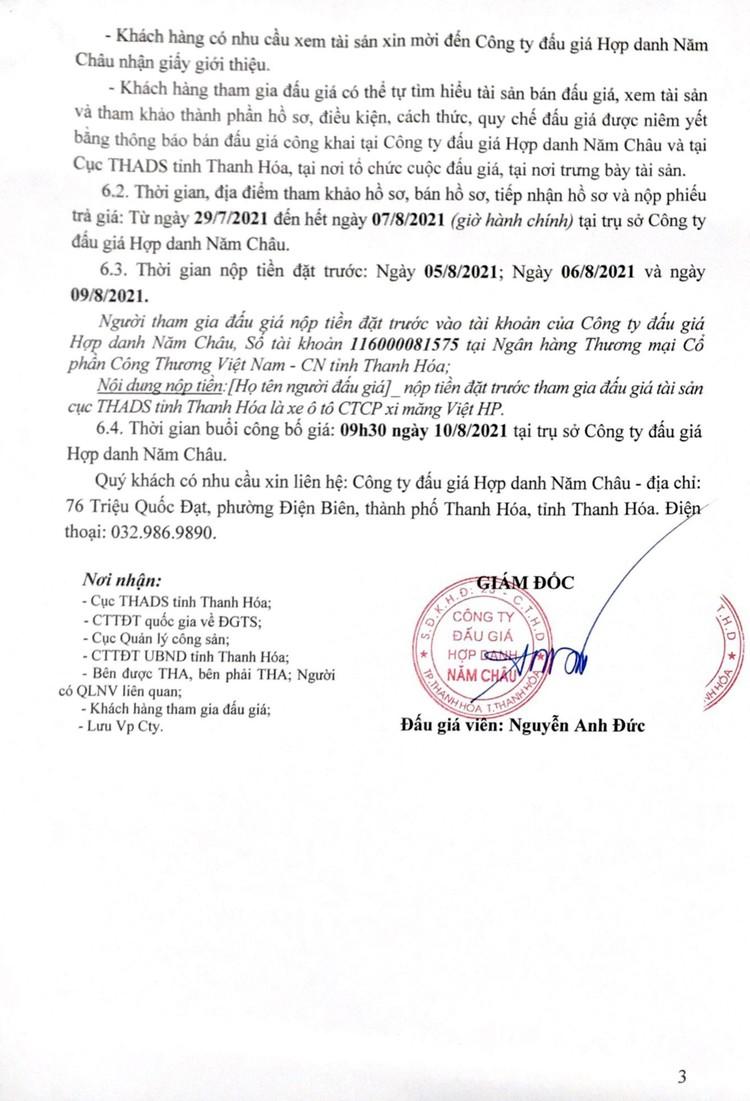 Ngày 10/8/2021, đấu giá xe ô tô MERCEDES-BENZ tại tỉnh Thanh Hóa ảnh 4