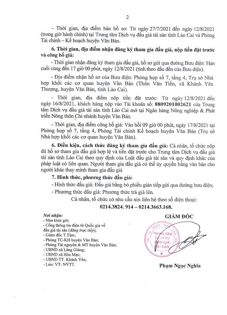 Ngày 17/8/2021, đấu giá quyền sử dụng 42 thửa đất tại huyện Văn Bàn, tỉnh Lào Cai ảnh 5