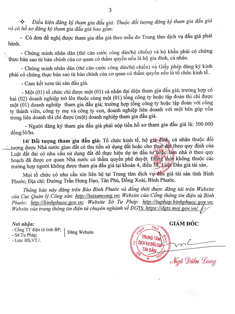 Ngày 23/8/2021, đấu giá quyền sử dụng 12 lô đất tại huyện Bù Đăng, tỉnh Bình Phước ảnh 4