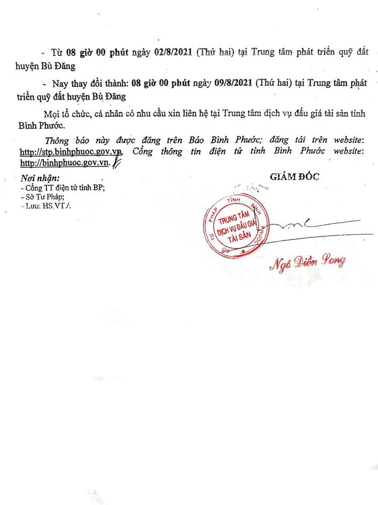 Ngày 23/8/2021, đấu giá quyền sử dụng 12 lô đất tại huyện Bù Đăng, tỉnh Bình Phước ảnh 6