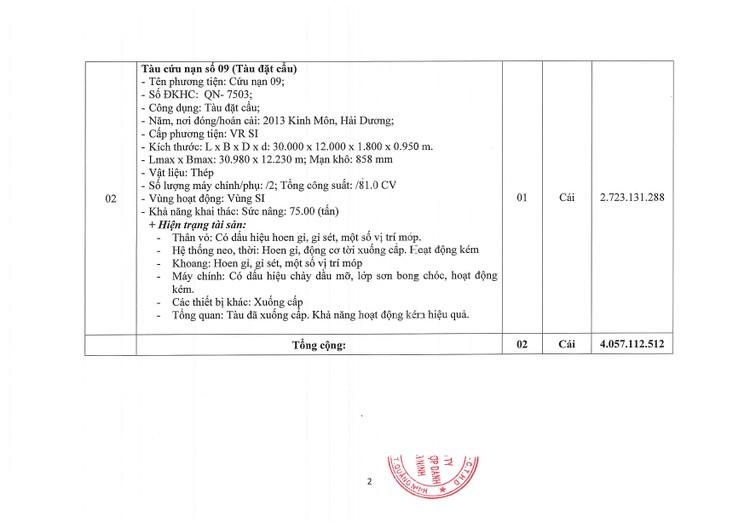 Ngày 13/8/2021, đấu giá 02 tàu cứu nạn tại tỉnh Quảng Ninh ảnh 5