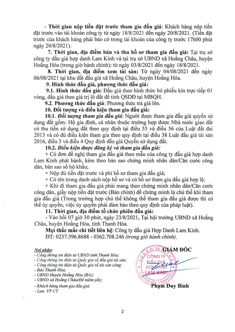 Ngày 23/8/2021, đấu giá quyền sử dụng 17 lô đất tại huyện Hoằng Hóa, Thanh Hóa ảnh 4
