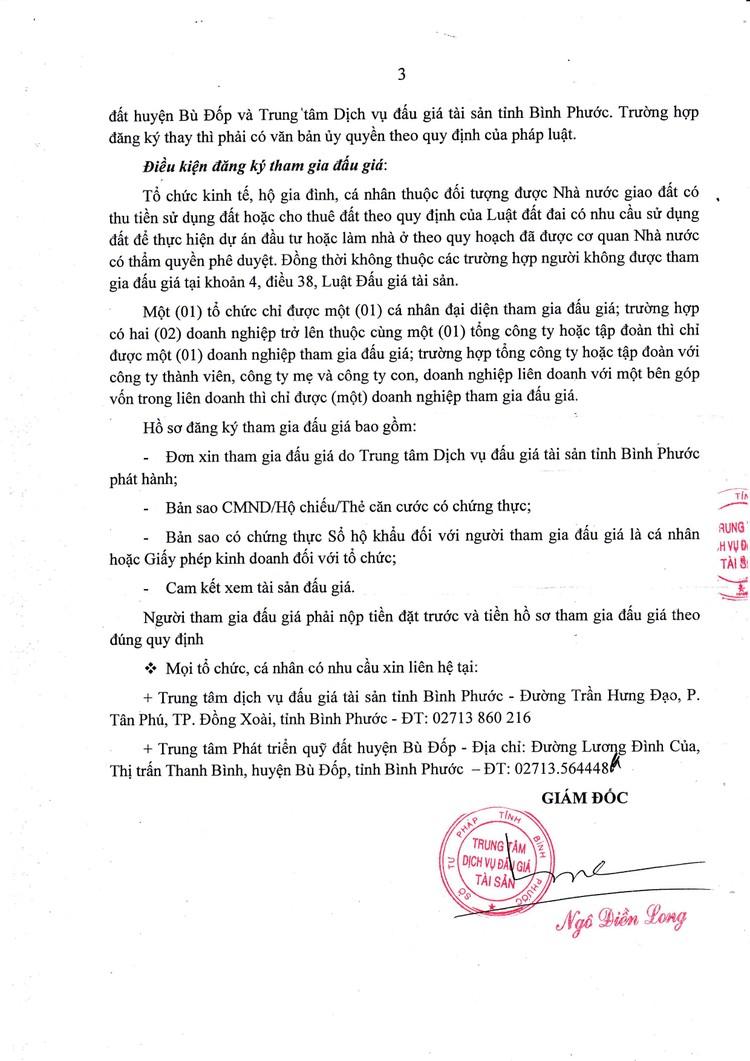 Ngày 23/8/2021, đấu giá quyền sử dụng đất tại huyện Bù Đốp, tỉnh Bình Phước ảnh 4