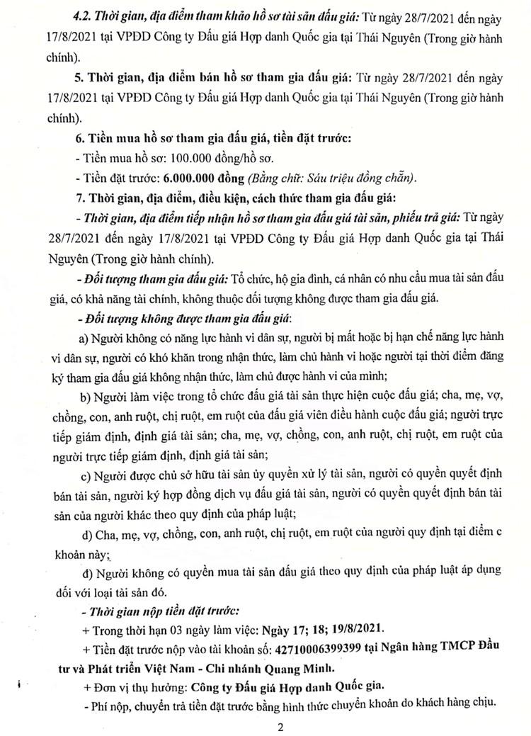 Ngày 20/8/2021, đấu giá 01 xe ô tô FORD TRANSIT tại tỉnh Thái Nguyên ảnh 3