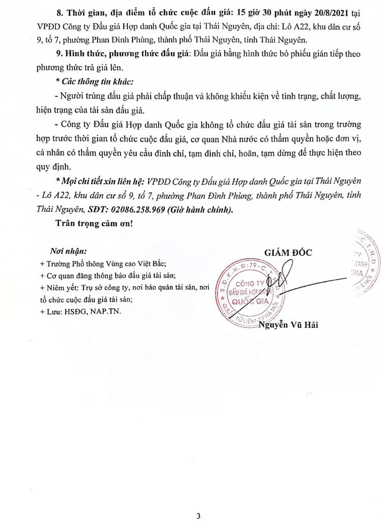 Ngày 20/8/2021, đấu giá 01 xe ô tô FORD TRANSIT tại tỉnh Thái Nguyên ảnh 4