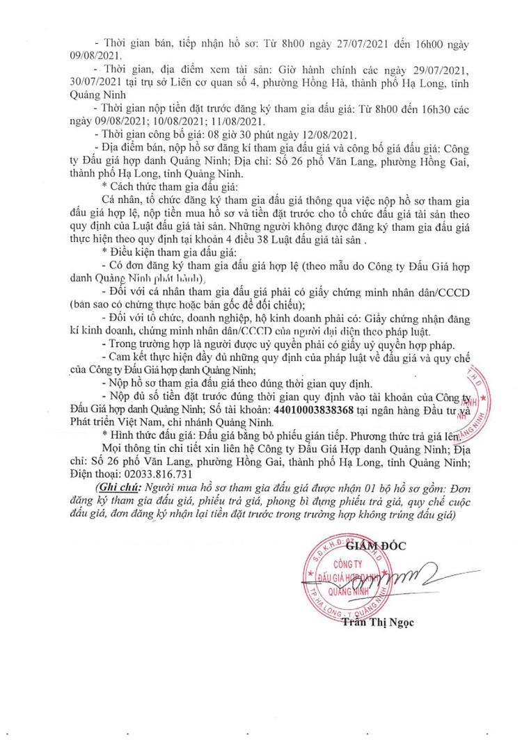 Ngày 12/8/2021, đấu giá 2 xe ô tô tại tỉnh Quảng Ninh ảnh 3