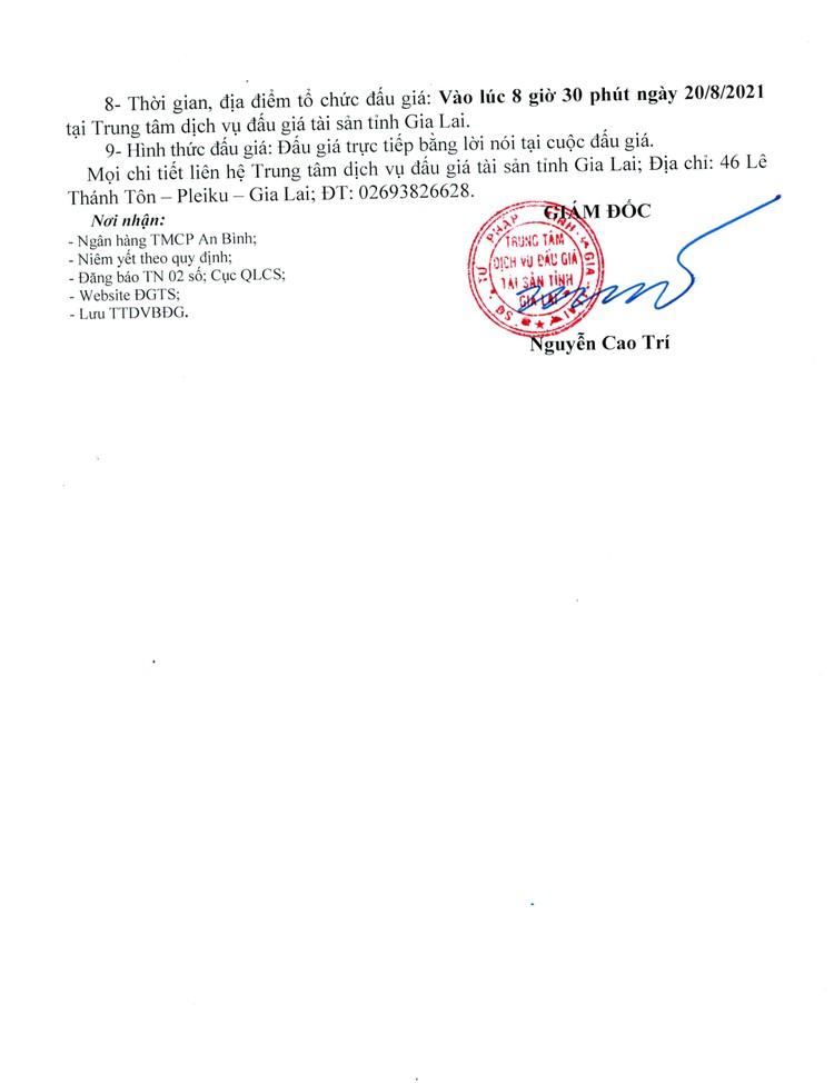 Ngày 20/8/2021, đấu giá quyền sử dụng đất tại huyện Chư Sê, tỉnh Gia Lai ảnh 4