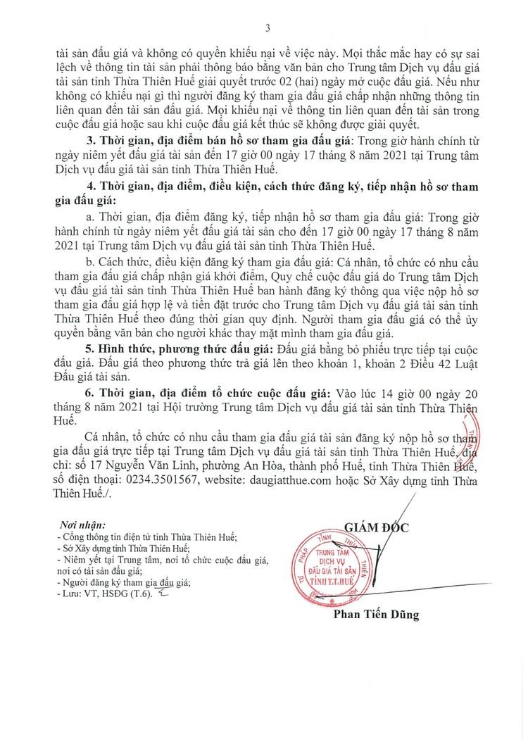 Ngày 20/8/2021, đấu giá 2 xe ô tô tại tỉnh Thừa Thiên Huế ảnh 4