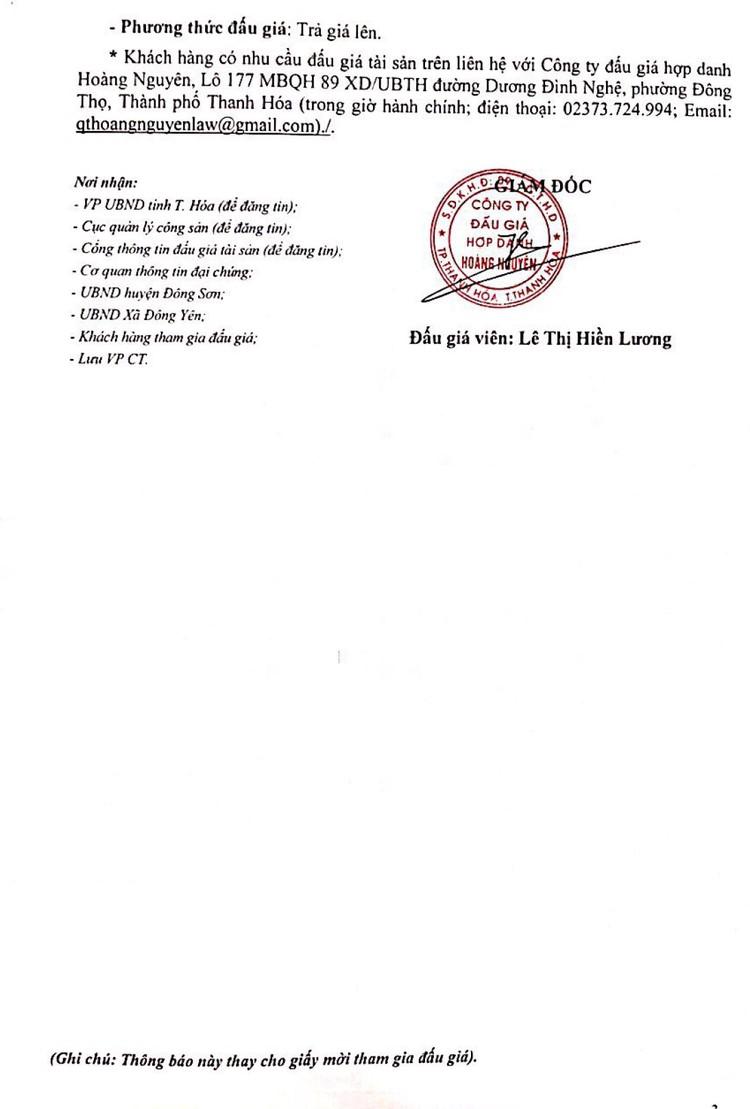 Ngày 23/8/2021, đấu giá quyền sử dụng 236 lô đất tại huyện Đông Sơn, tỉnh Thanh Hóa ảnh 4
