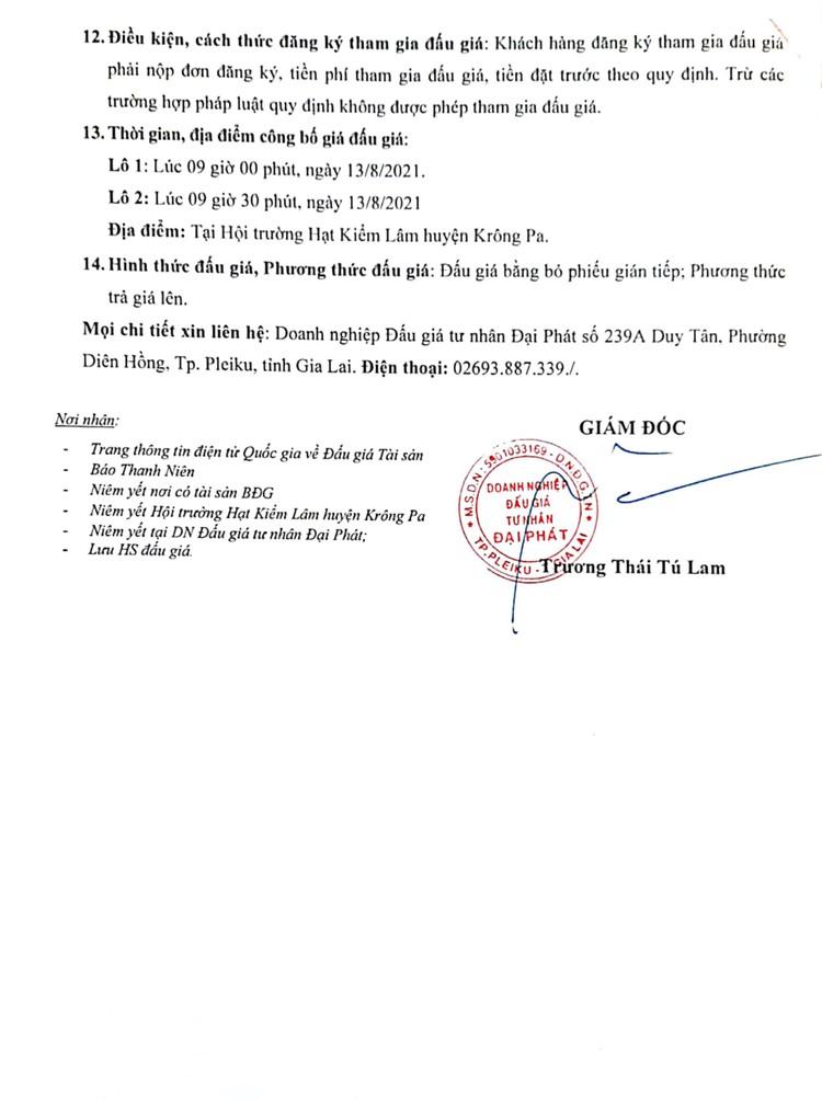 Ngày 13/8/2021, đấu giá tài sản tịch thu trong lĩnh vực Lâm nghiệp tại tỉnh Gia Lai ảnh 3