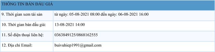 Ngày 13/8/2021, đấu giá quyền sử dụng 350,9 m2 đất tại huyện Lâm Thao, tỉnh Phú Thọ ảnh 2