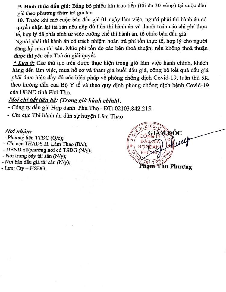 Ngày 13/8/2021, đấu giá quyền sử dụng 350,9 m2 đất tại huyện Lâm Thao, tỉnh Phú Thọ ảnh 4