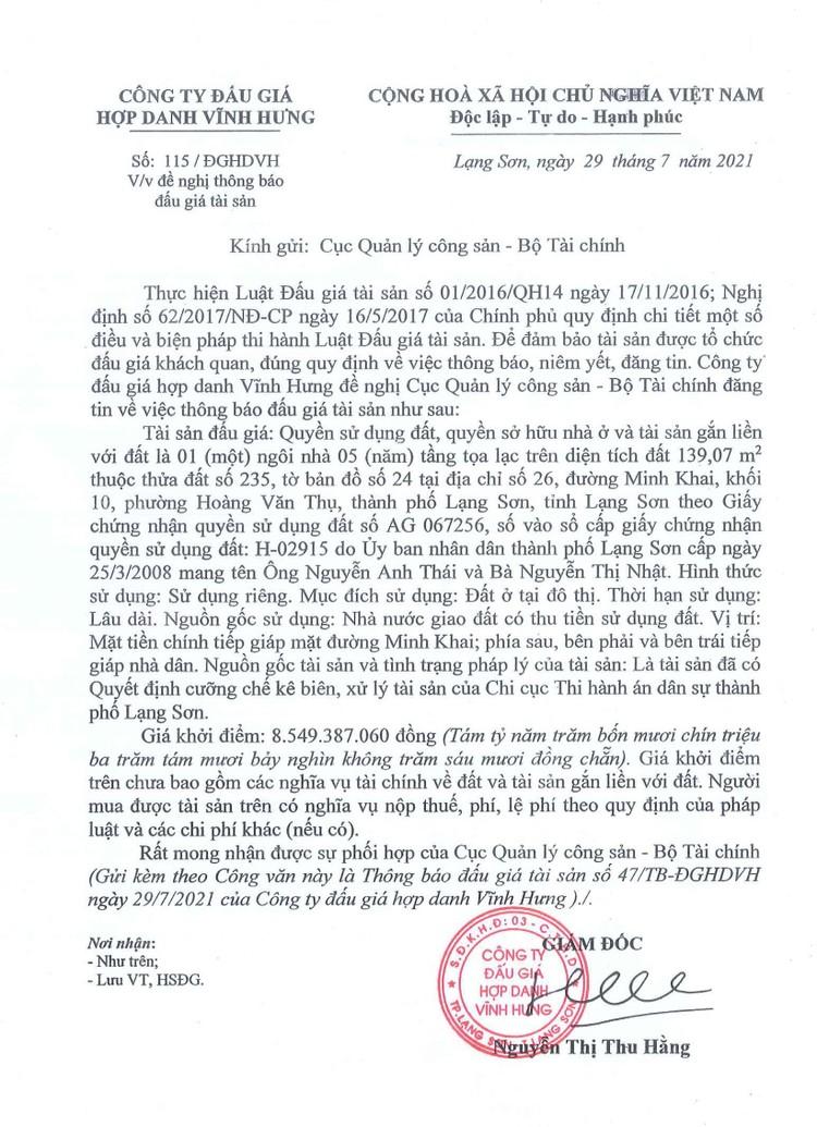 Ngày 20/8/2021, đấu giá quyền sử dụng 139,07 m2 đất tại thành phố Lạng Sơn, tỉnh Lạng Sơn ảnh 3