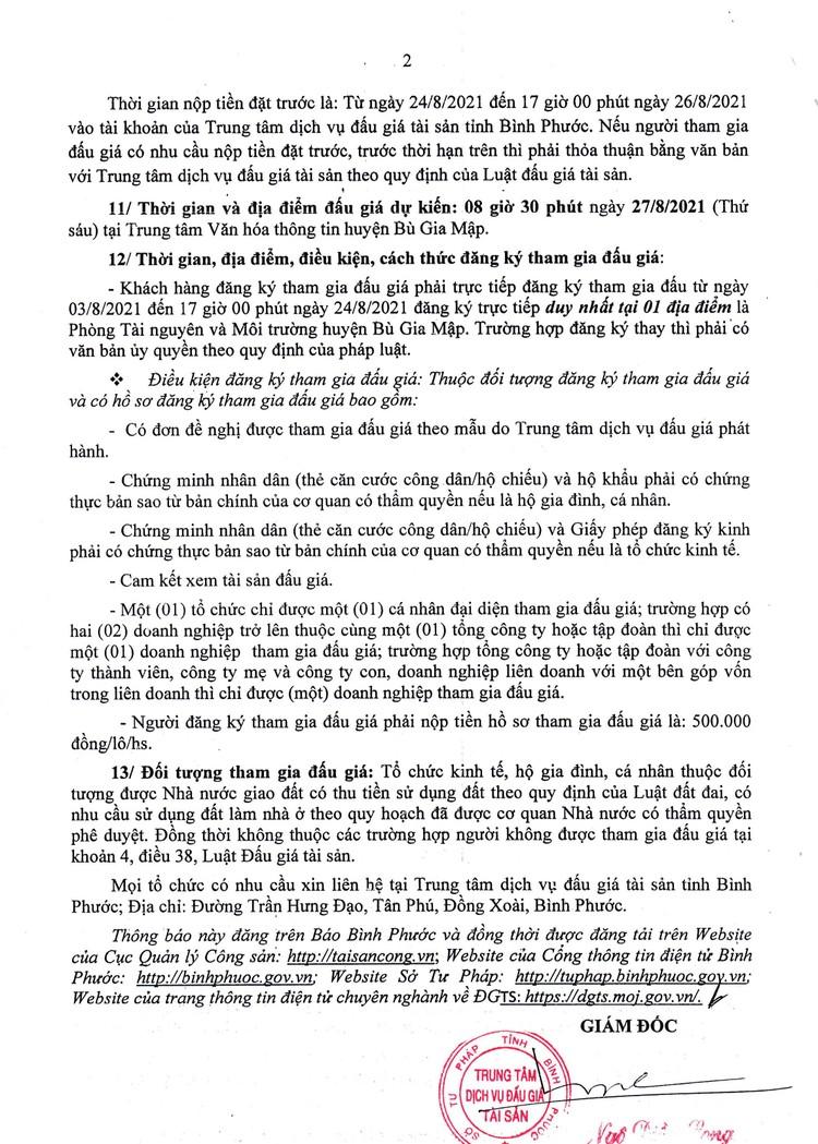 Ngày 27/8/2021, đấu giá quyền sử dung 13 thửa đất tại huyện Bù Gia Mập, tỉnh Bình Phước ảnh 3