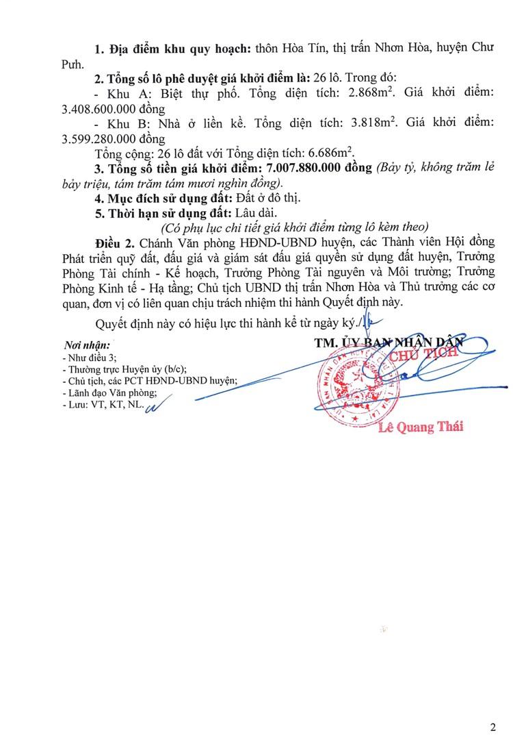 Ngày 23/8/2021, đấu giá quyền sử dụng 26 lô đất tại huyện Chư Pưh, tỉnh Gia Lai ảnh 6