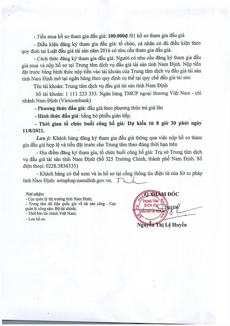Ngày 11/8/2021, đấu giá hàng hóa tang vật vi phạm hành chính tại tỉnh Nam Định ảnh 3