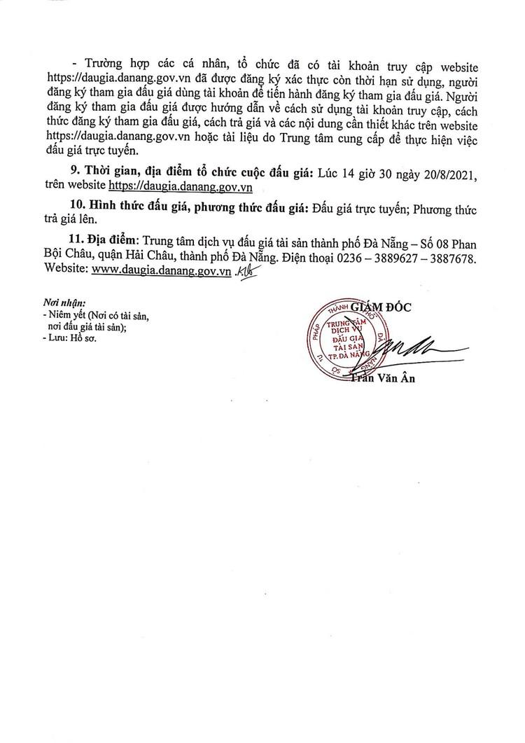Ngày 20/8/2021, đấu giá xe ô tô Toyota Camry tại thành phố Đà Nẵng ảnh 3