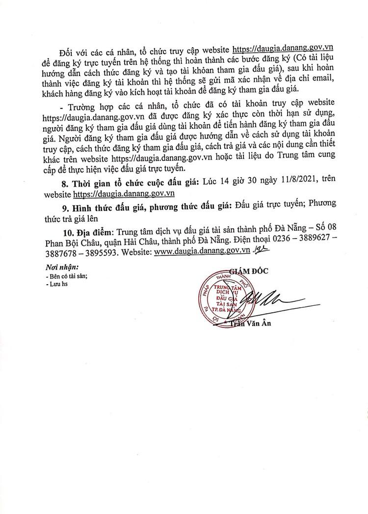 Ngày 11/8/2021, đấu giá lô sản phẩm tịch thu tại thành phố Đà Nẵng ảnh 3