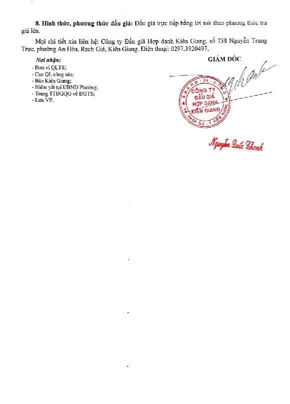 Ngày 31/8/2021, đấu giá quyền sử dụng đất tại TP.Rạch Giá, tỉnh Kiên Giang ảnh 5