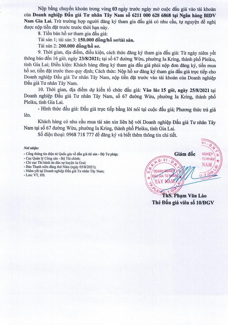 Ngày 25/8/2021, đấu giá quyền sử dụng đất tại huyện Ia Grai, tỉnh Gia Lai ảnh 3