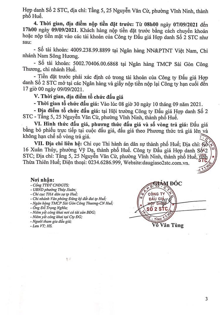 Ngày 10/9/2021, đấu giá quyền sử dụng đất tại thành phố Huế, tỉnh Thừa Thiên Huế ảnh 4