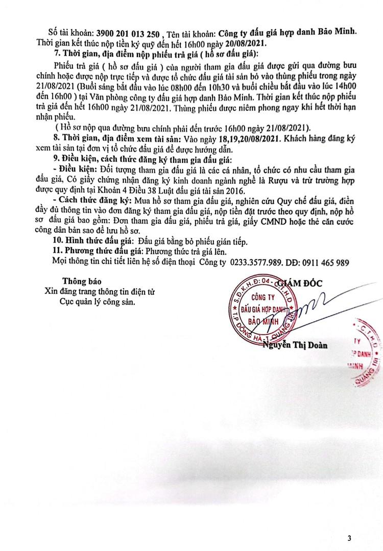 Ngày 23/8/2021, đấu giá tang vật vi phạm hành chính bị tịch thu tại tỉnh Quảng Trị ảnh 4