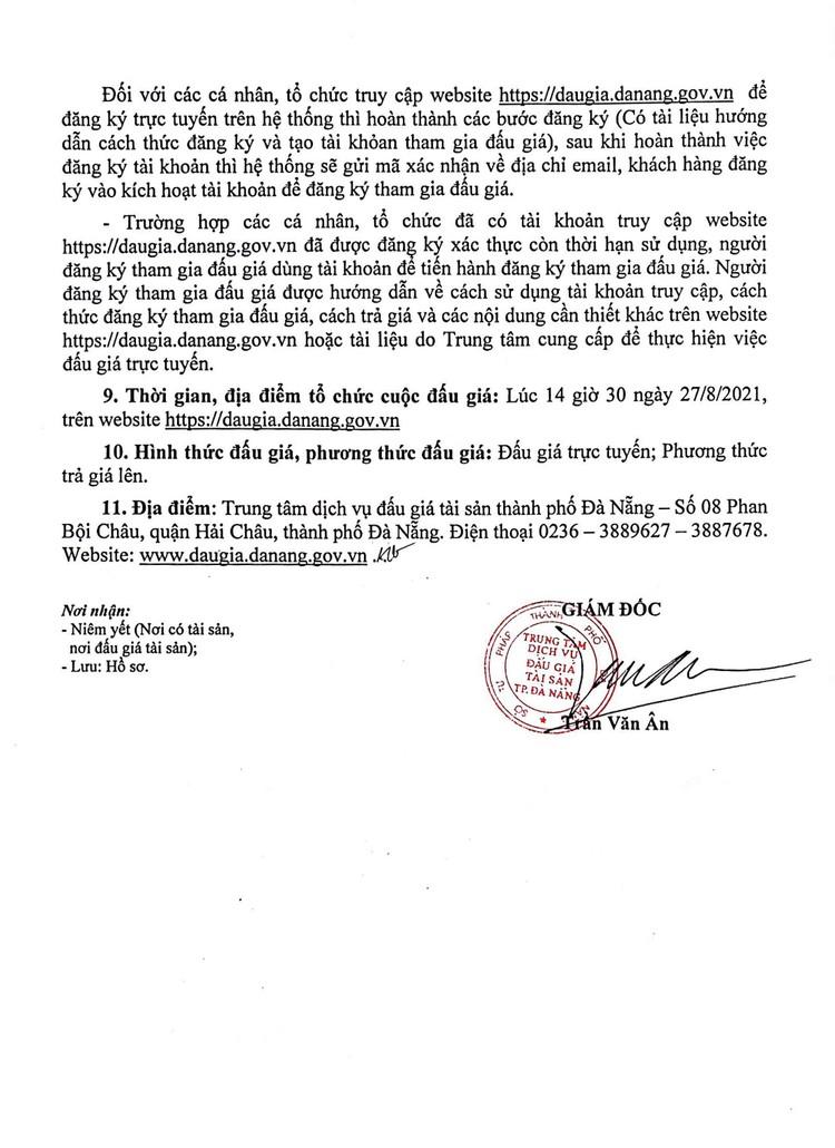 Ngày 27/8/2021, đấu giá quyền sử dụng đất tại quận Cẩm Lệ, thành phố Đà Nẵng ảnh 3