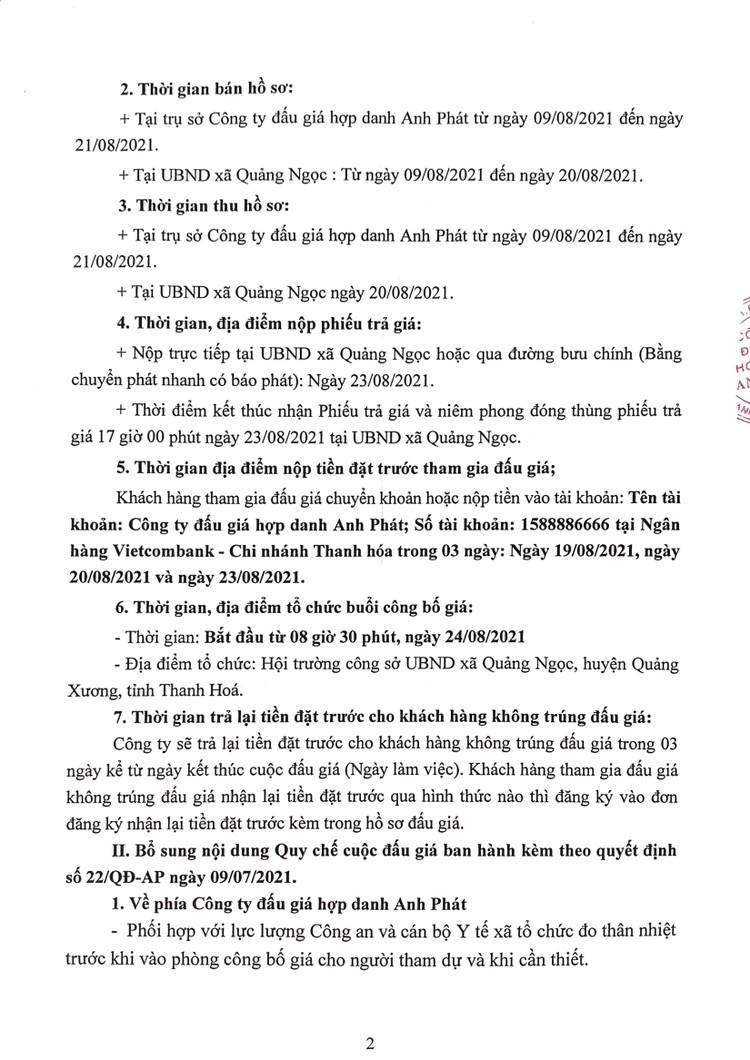 Ngày 24/8/2021, đấu giá quyền sử dụng 58 lô đất tại huyện Quảng Xương, tỉnh Thanh Hoá ảnh 3