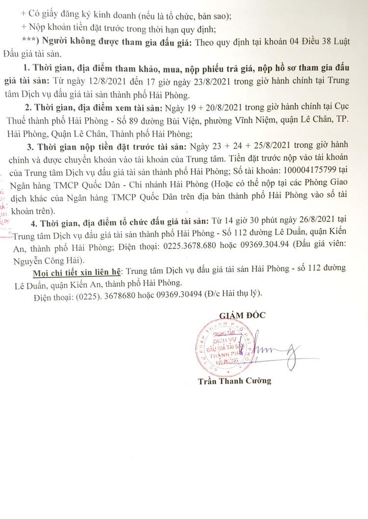 Ngày 26/8/2021, đấu giá xe ô tô Toyota Hiace tại thành phố Hải Phòng ảnh 3