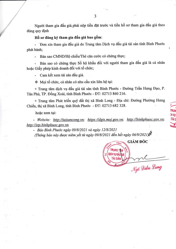 Ngày 9/9/2021, đấu giá quyền sử dụng 24 lô đất tại thị xã Bình Long, tỉnh Bình Phước ảnh 4