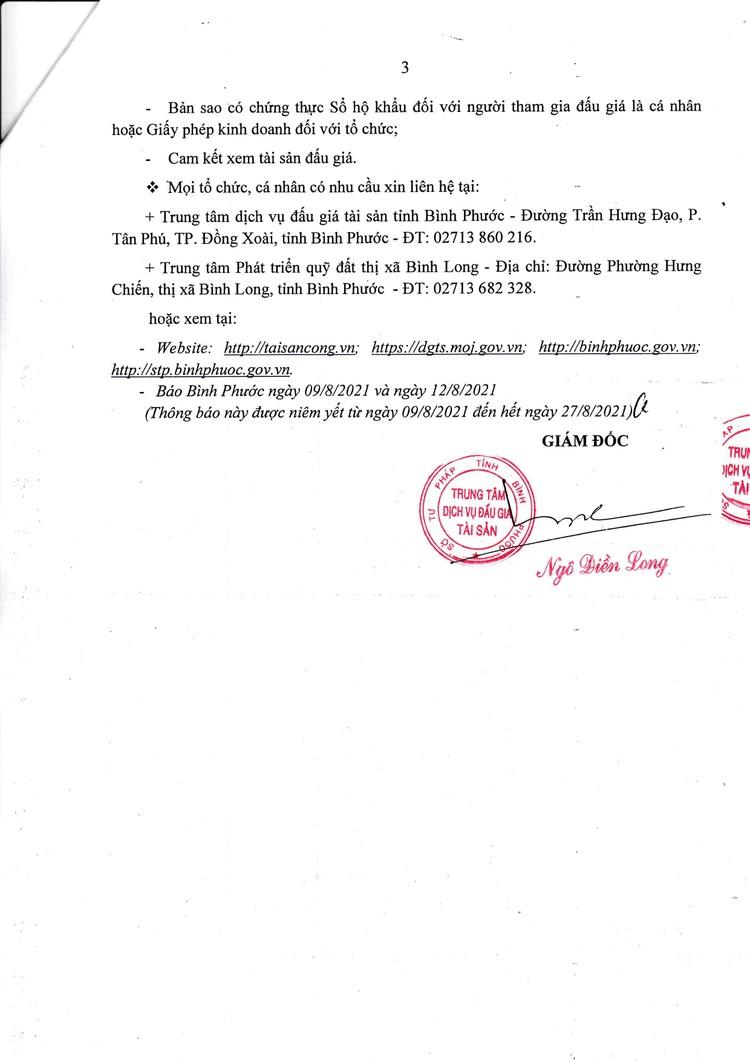 Ngày 30/8/2021, đấu giá quyền sử dụng 22 lô đất tại thị xã Bình Long, tỉnh Bình Phước ảnh 4
