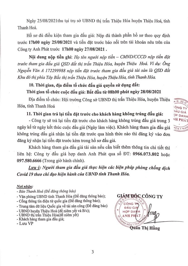 Ngày 28/8/2021, đấu giá quyền sử dụng 36 lô đất tại huyện Thiệu Hóa, tỉnh Thanh Hóa ảnh 4