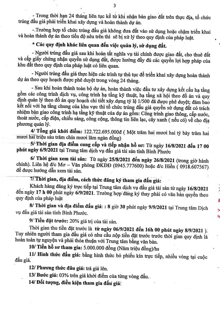 Ngày 9/9/2021, đấu giá quyền sử dụng đất tại huyện Hớn Quảng và thị xã Bình Long, tỉnh Bình Phước ảnh 4