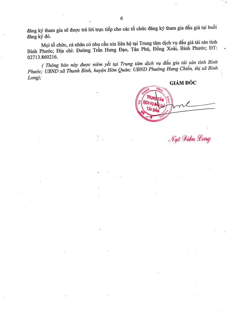 Ngày 9/9/2021, đấu giá quyền sử dụng đất tại huyện Hớn Quảng và thị xã Bình Long, tỉnh Bình Phước ảnh 7