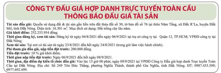 Ngày 9/9/2021, đấu giá quyền sử dụng 16.301 m2 đất tại huyện Đắk Mil, tỉnh Đắk Nông ảnh 1