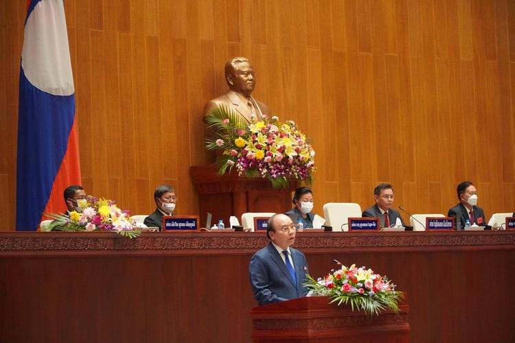 Chủ tịch nước Nguyễn Xuân Phúc phát biểu tại Quốc hội Lào ảnh 1