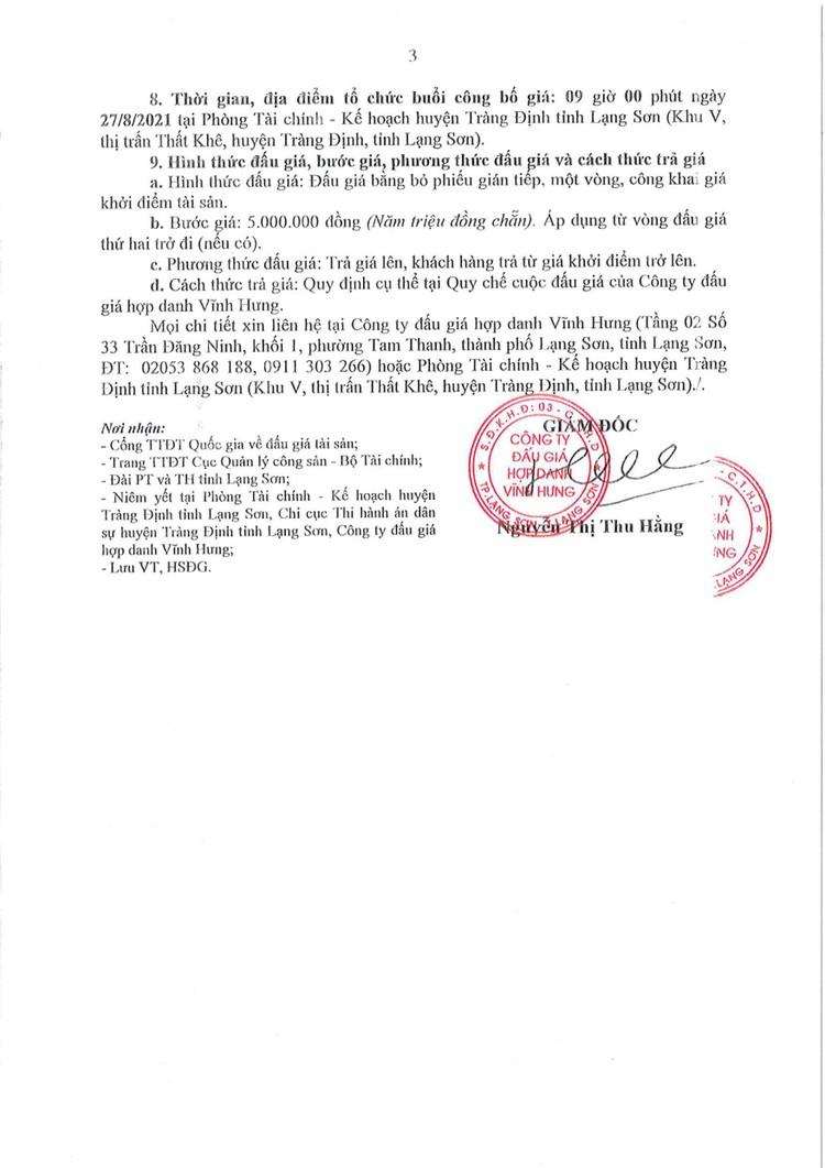 Ngày 27/8/2021, đấu giá xe ô tô MITSUBISHI tại tỉnh Lạng Sơn ảnh 5