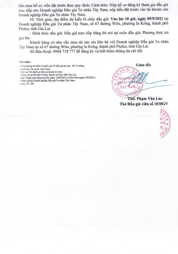 Ngày 9/9/2021, đấu giá quyền sử dụng đất tại huyện Ia Grai, tỉnh Gia Lai ảnh 3