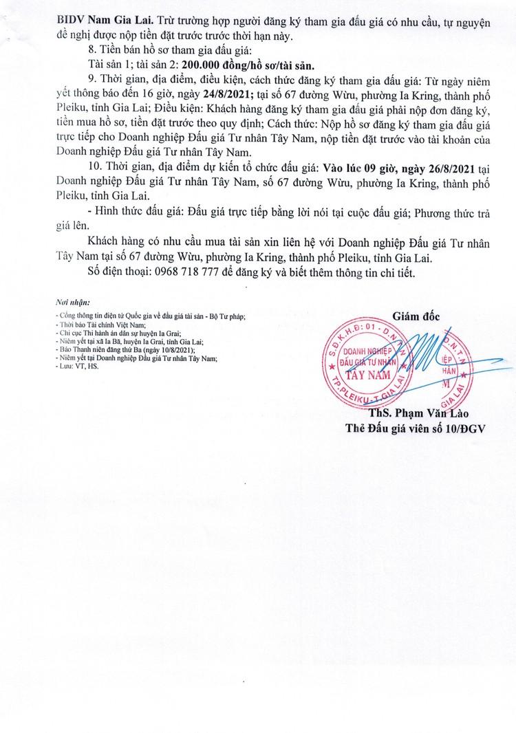 Ngày 26/8/2021, đấu giá quyền sử dụng đất tại huyện Ia Grai, tỉnh Gia Lai ảnh 3
